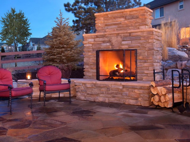 Outdoor Fireplace Chimney Height