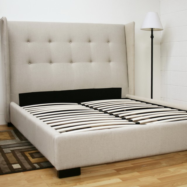 Padded Headboard Queen Bed