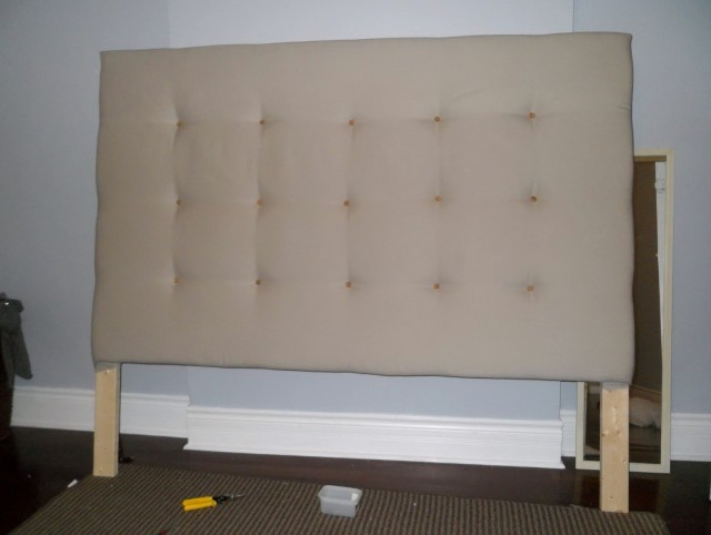Padded Headboard Queen Diy