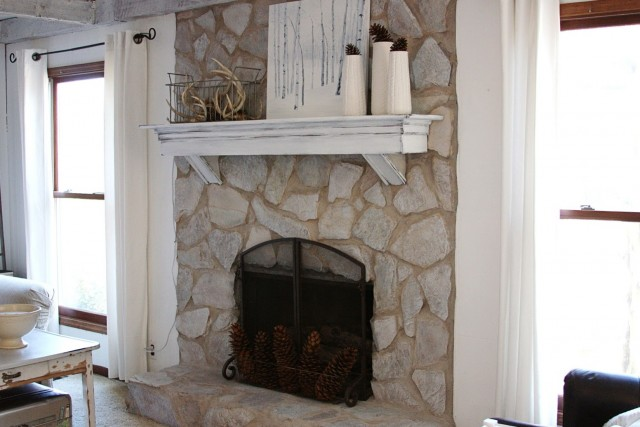 Painting A Fireplace Before And After