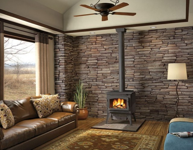 Pot Belly Stove Electric Fireplace