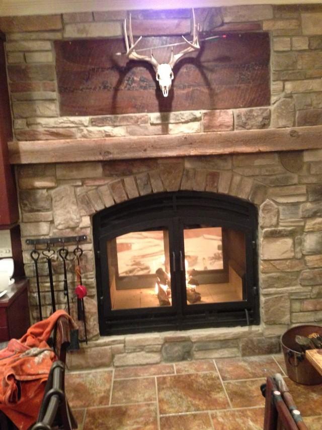 Prefab Wood Burning Fireplace Box