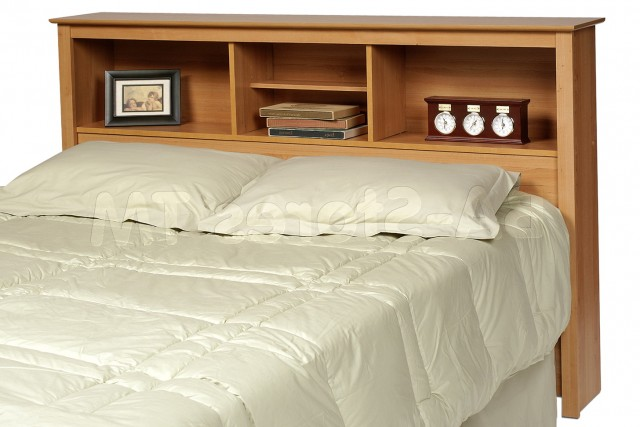 Queen Bed Headboard With Shelves