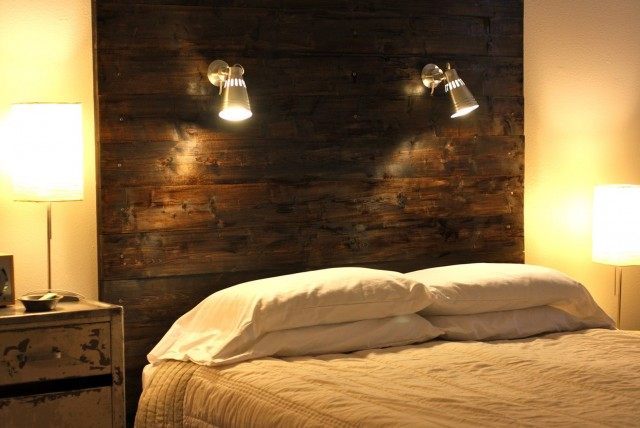 Reading Light Attached Headboard Bed