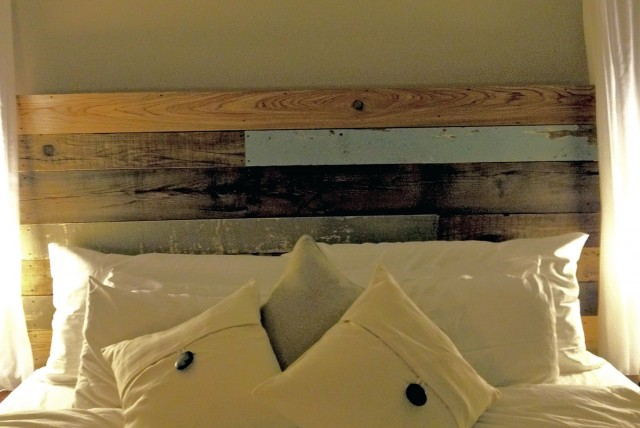 Reclaimed Barn Wood Headboard