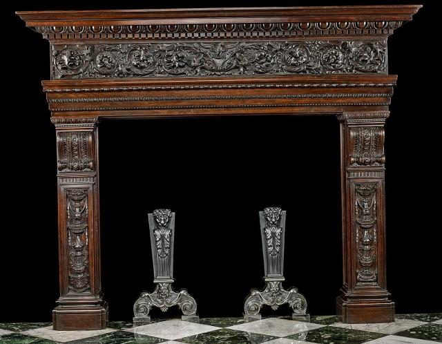 Reclaimed Wood Around Fireplace