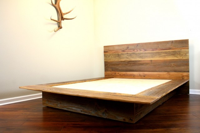 Reclaimed Wood Twin Headboard
