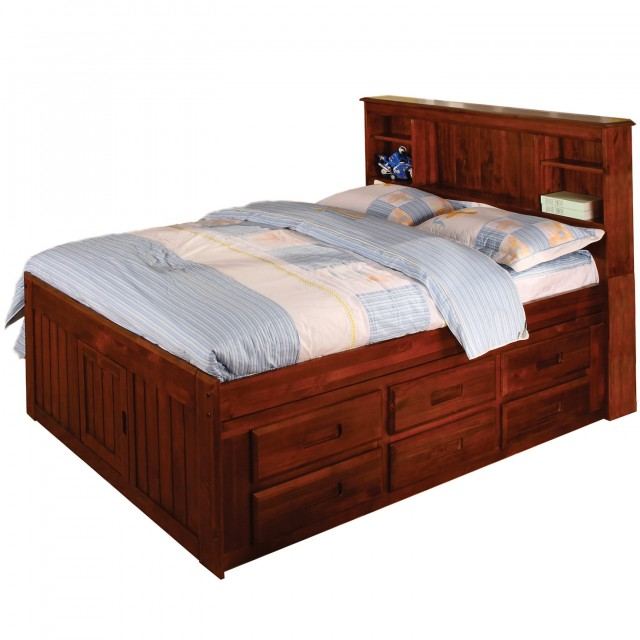 Storage Headboard Full Size Bed
