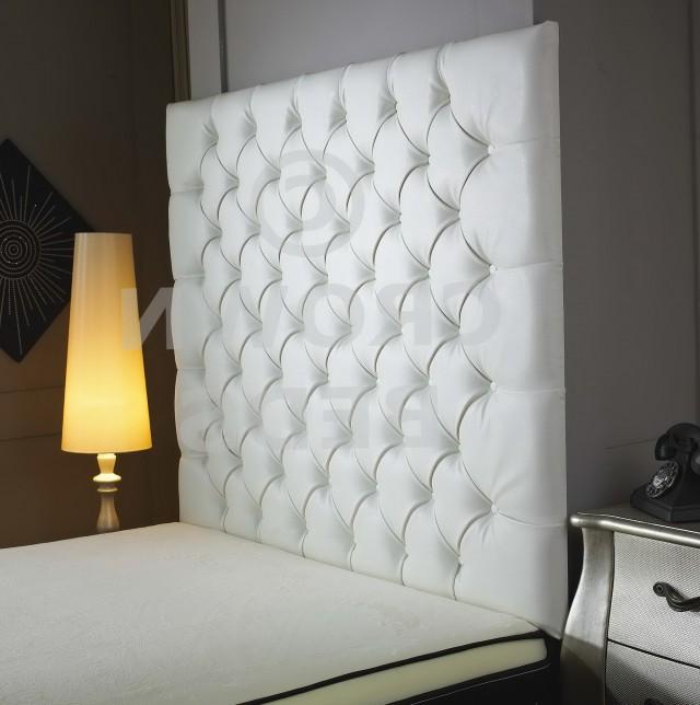 Tall White Upholstered Headboard