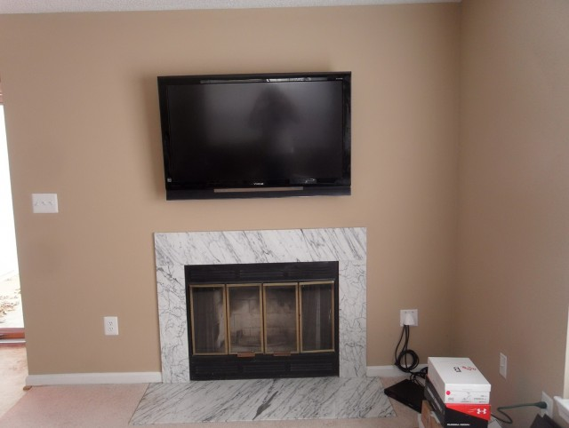 Tv On Fireplace Where To Put Cable Box