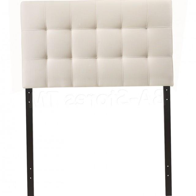 White Fabric Headboard Twin