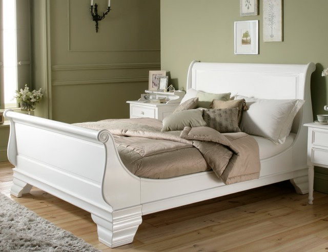 White Wood Headboards King Size Beds