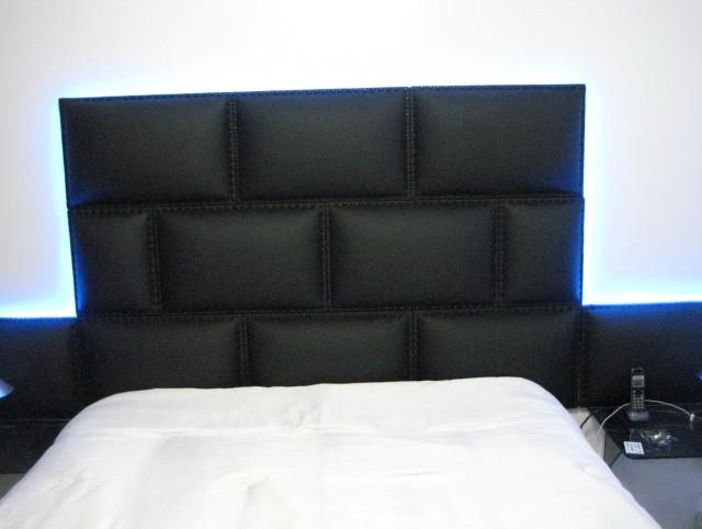 Black Leather Headboard Queen