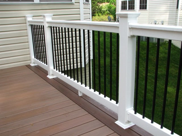 Black Vinyl Porch Railing