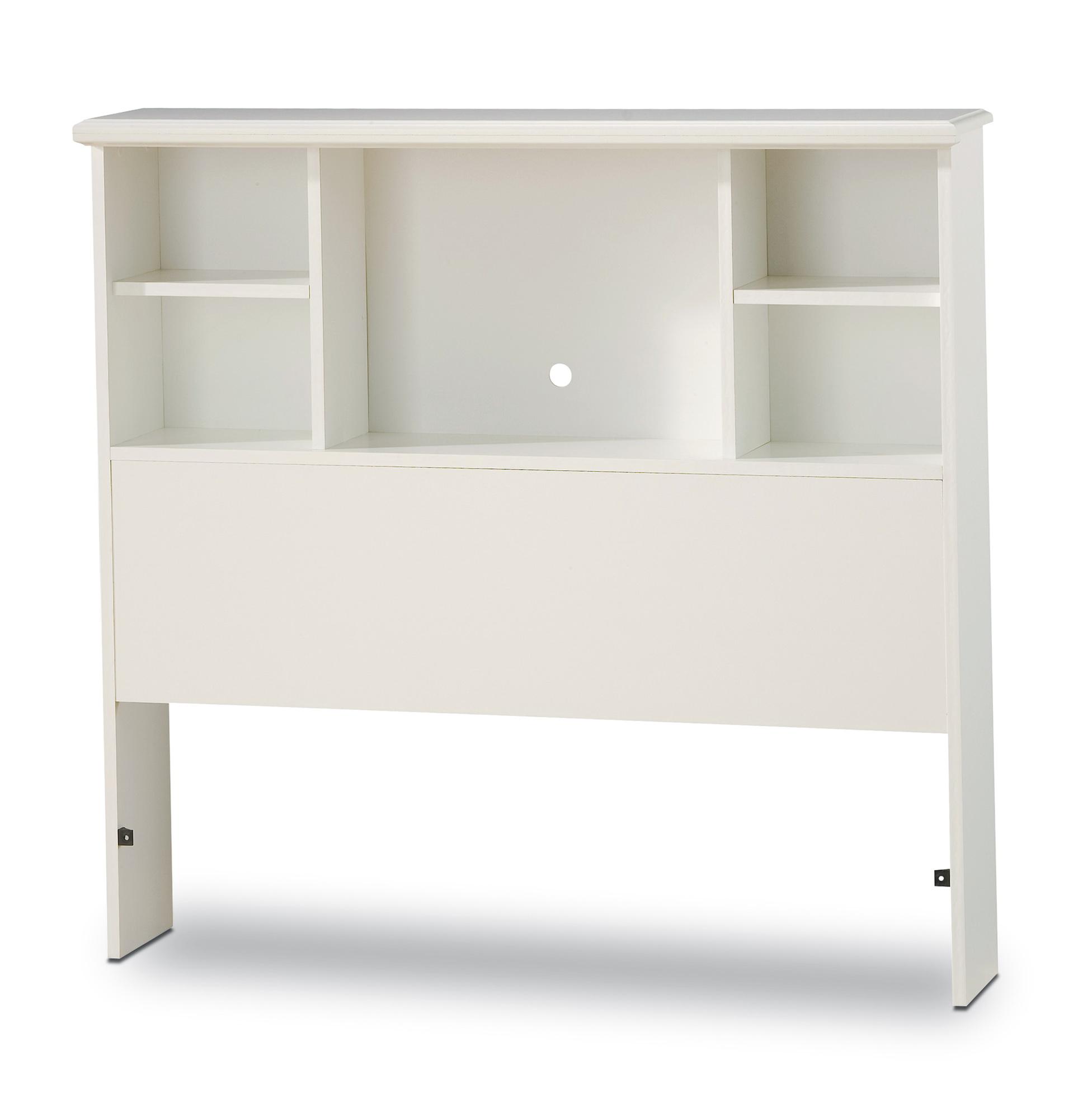 Bookcase Headboard Twin White