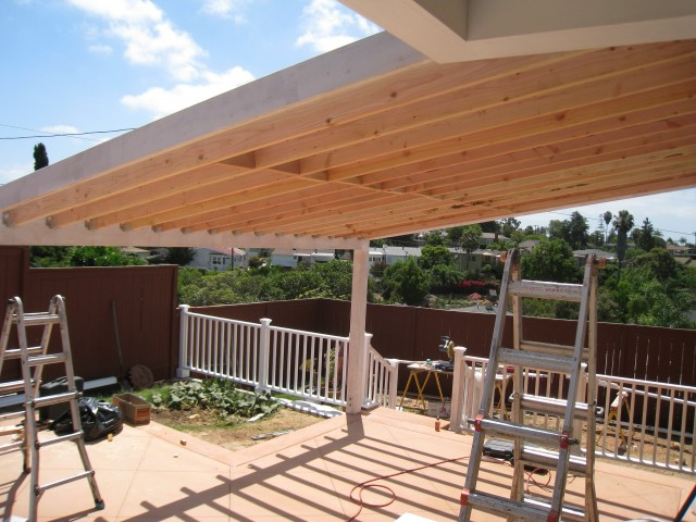 Building A Porch Roof Pictures