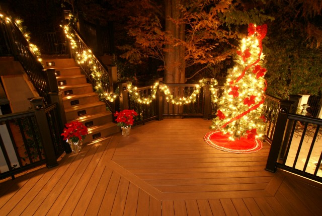 Christmas Porch Railing Decorations