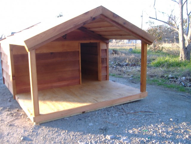 Diy Dog House With Porch