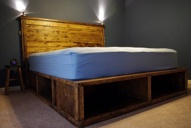Diy Platform Bed With Headboard