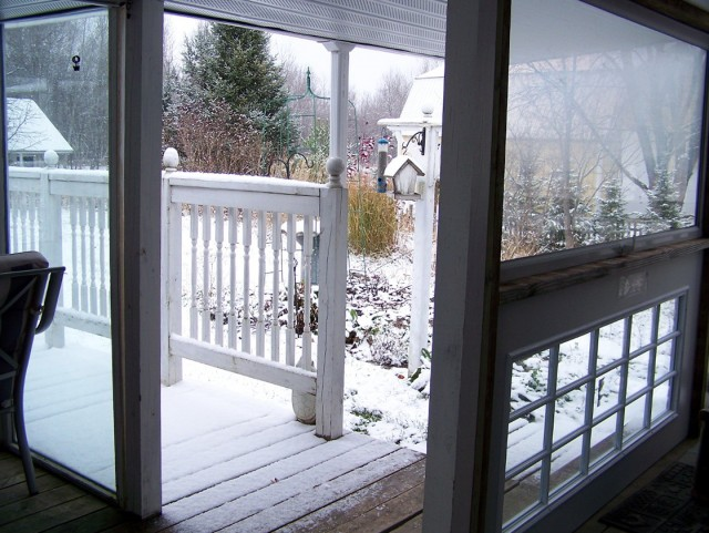 Enclosing A Porch For Winter