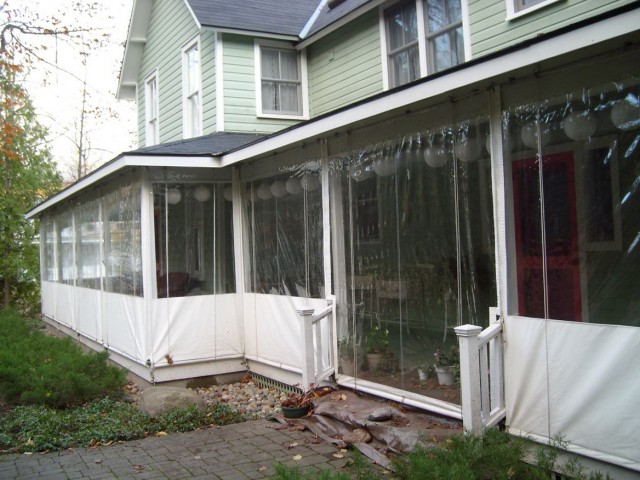 Enclosing A Porch With Plastic