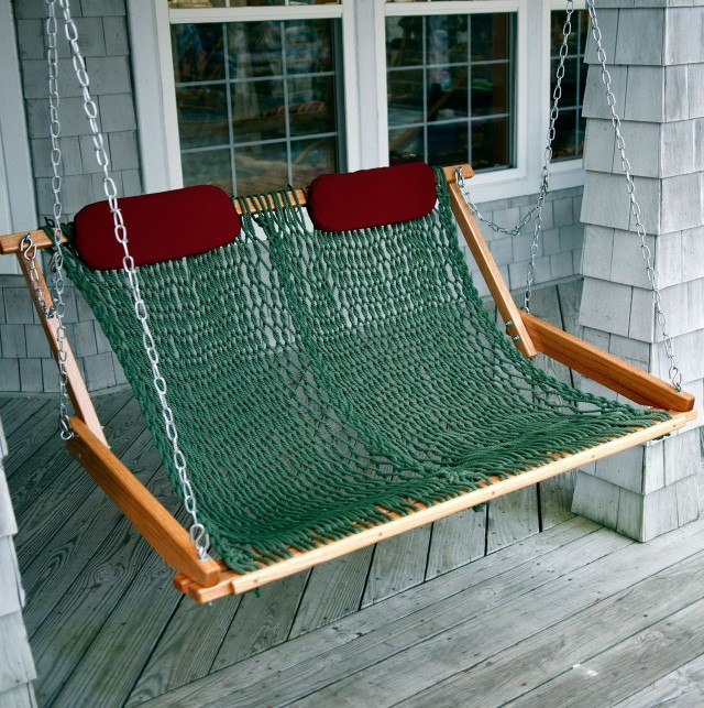 Hanging Porch Swing With Rope
