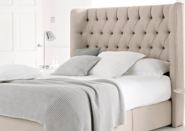 King Size Bed With Upholstered Headboard