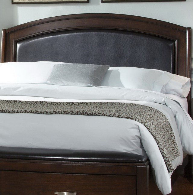 Leather Headboard King Bedroom Set