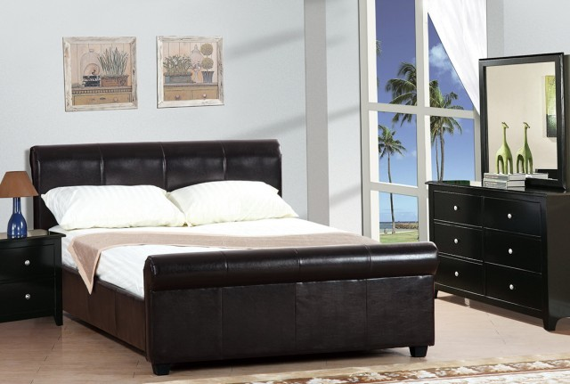 Leather Headboard Queen Bedroom Set