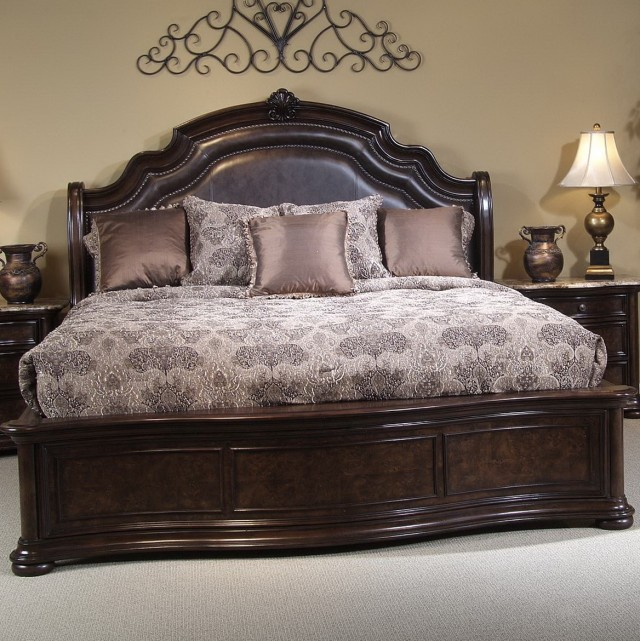 Leather Upholstered Headboard King