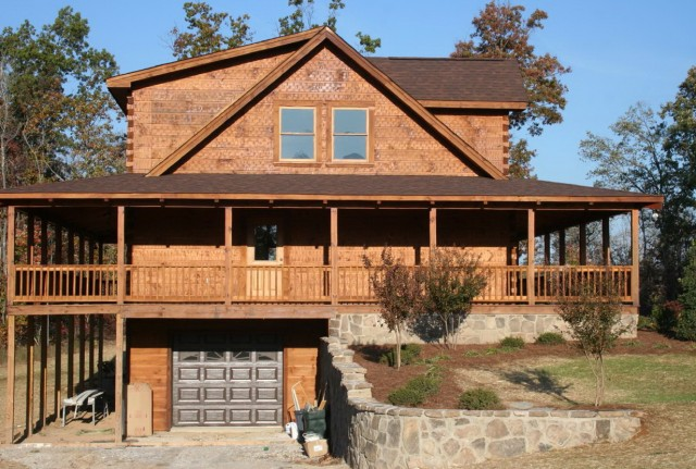 Log Houses With Wrap Around Porches