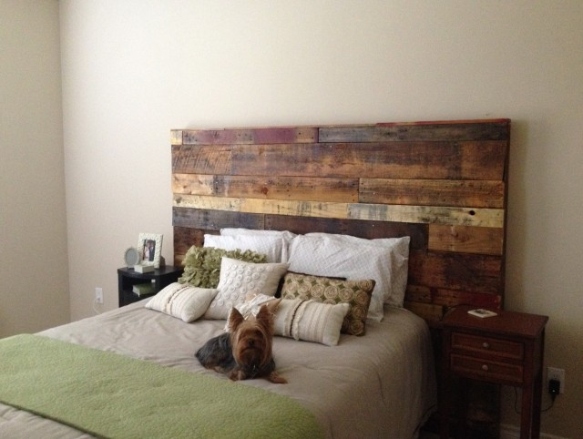 Make A Headboard Out Of Pallets