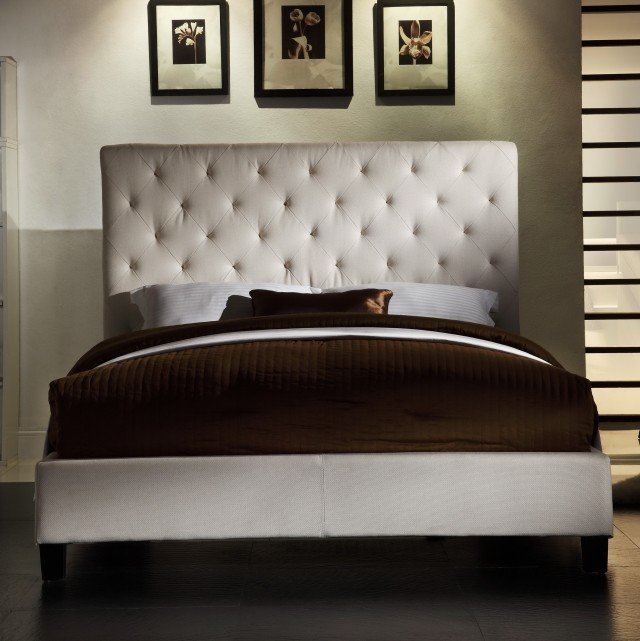 Platform Bed Tufted Headboard