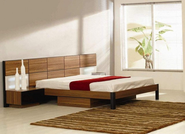Platform Bed With Headboard And Storage Drawers
