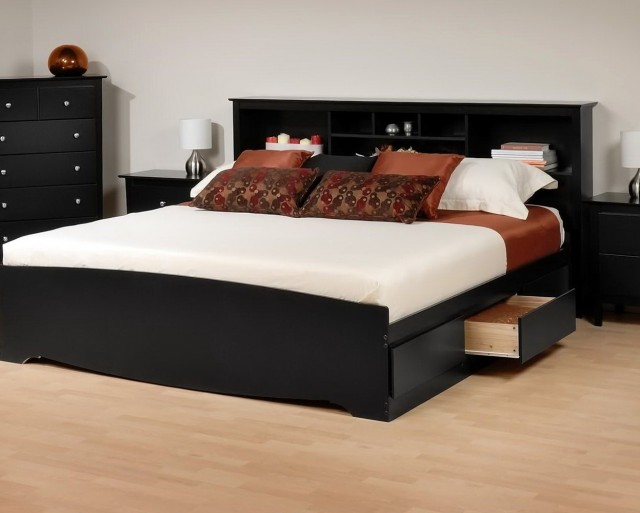 Platform Bed With Headboard Storage