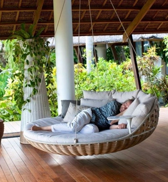 Porch Bed Swing Round