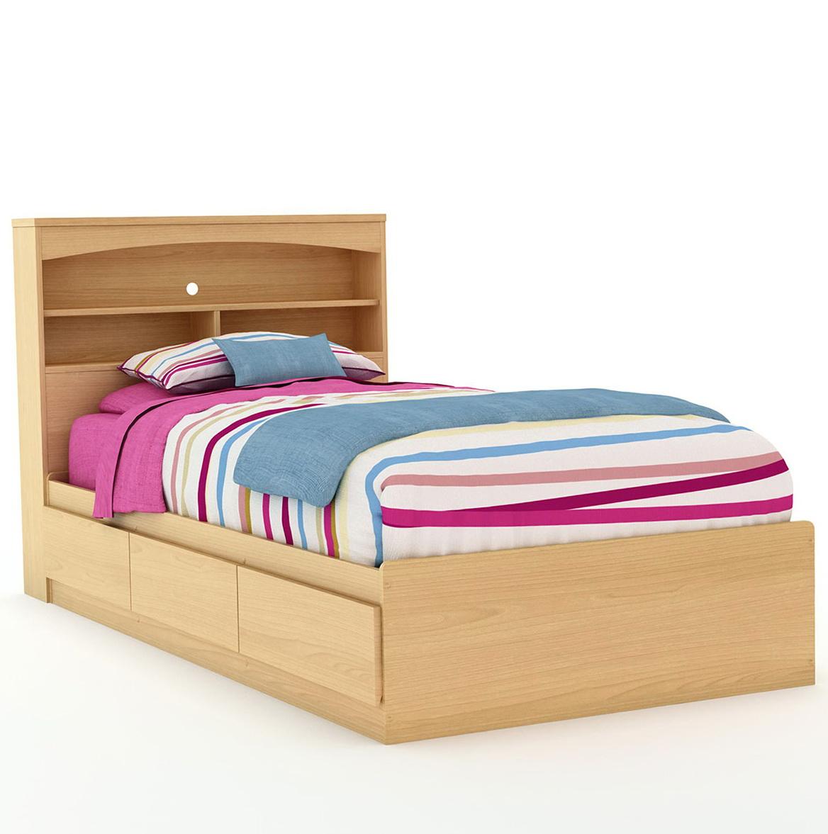 Queen Bookcase Headboard Maple