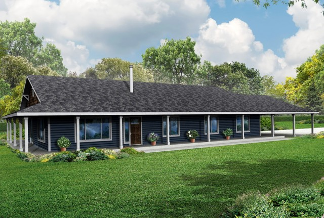 Ranch House With Wrap Around Porch