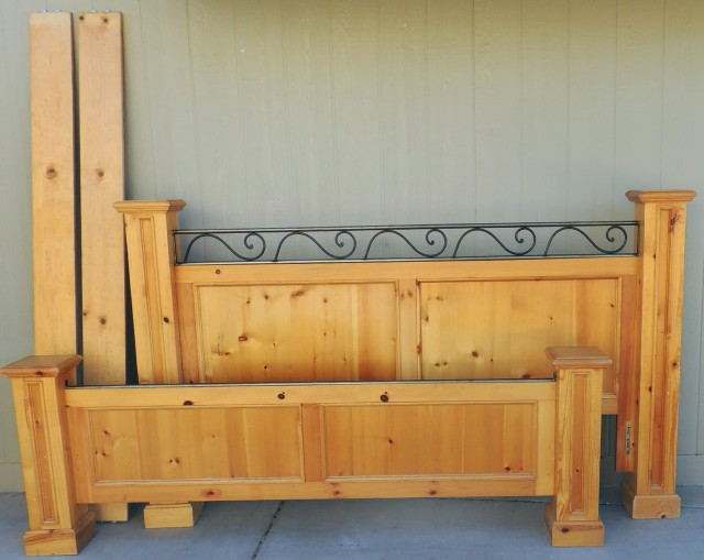 Solid Wood Headboard And Footboard