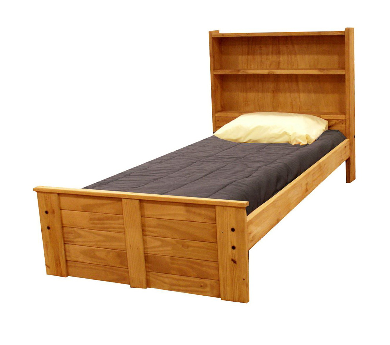 Twin Bed Headboard With Shelves
