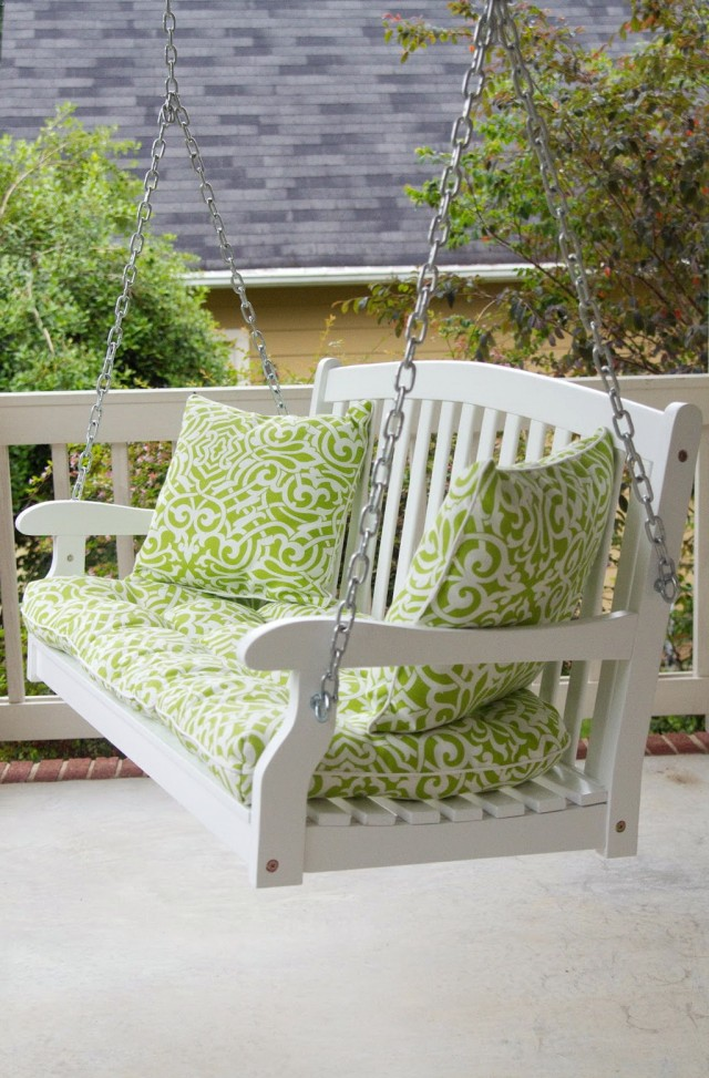 White Porch Swing Home Depot