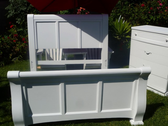 White Shabby Chic Headboard