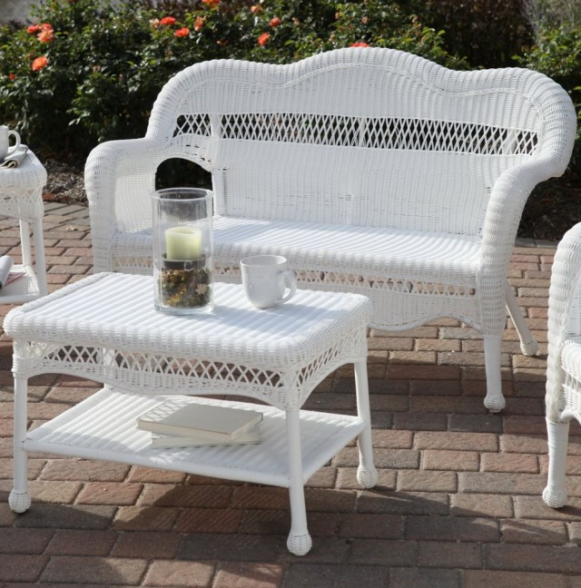 White Wicker Porch Furniture