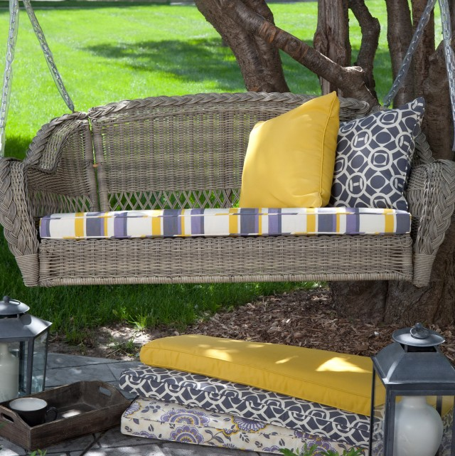 Wicker Porch Swing Cushions