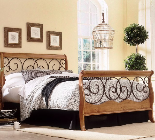 Wood And Metal Headboard King