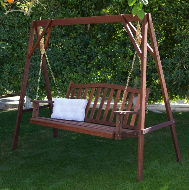 Wood Porch Swing Stand