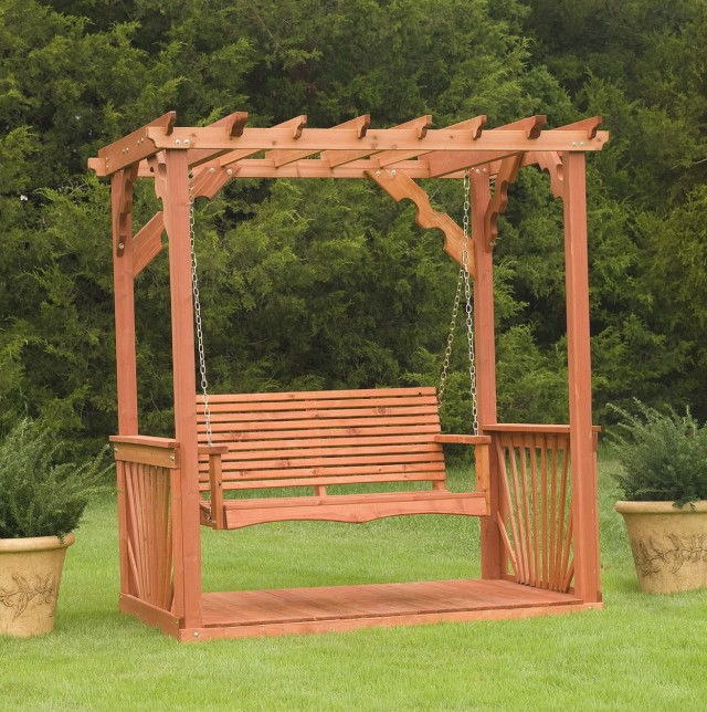Wooden Porch Swing Stand