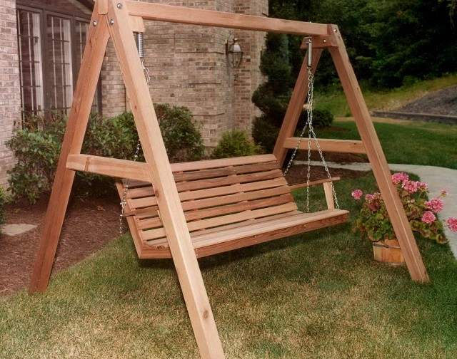 Wooden Porch Swings With Stand
