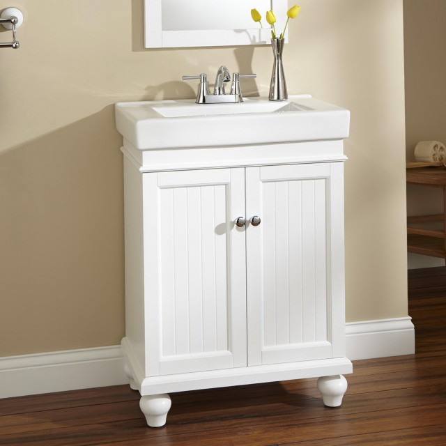 24 Bathroom Vanity White