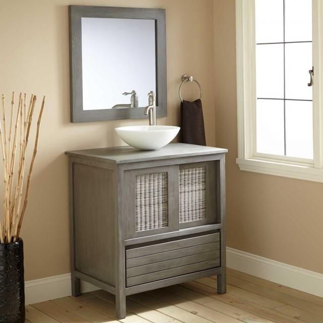 30 Inch Gray Bathroom Vanity